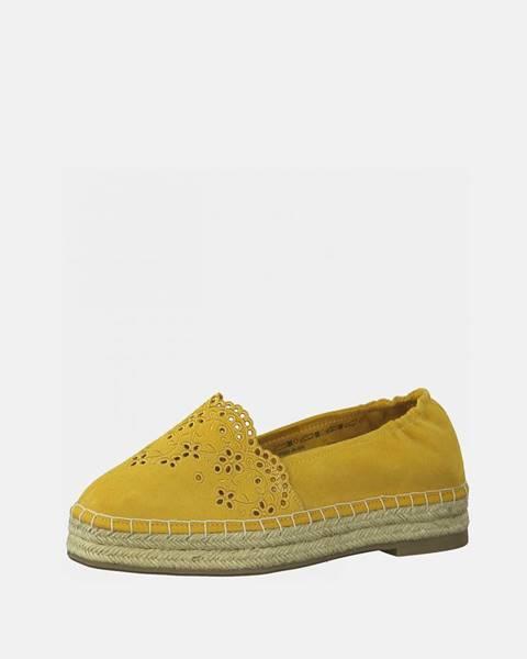 Žlté espadrilky Tamaris