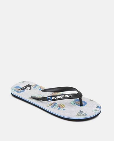 Sivé sandále Quiksilver