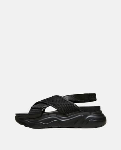 Čierne sandále Selected Femme