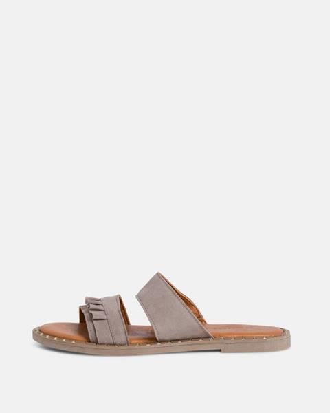 Sivé papuče Tamaris