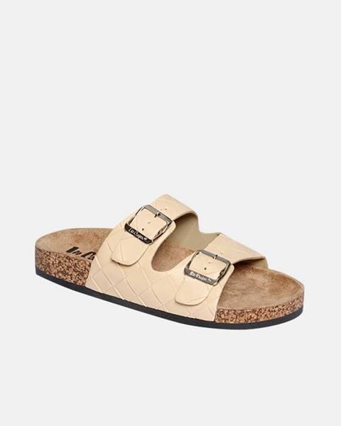 Béžové papuče lee cooper