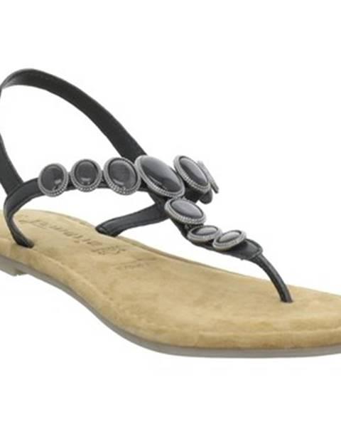 Čierne sandále Tamaris