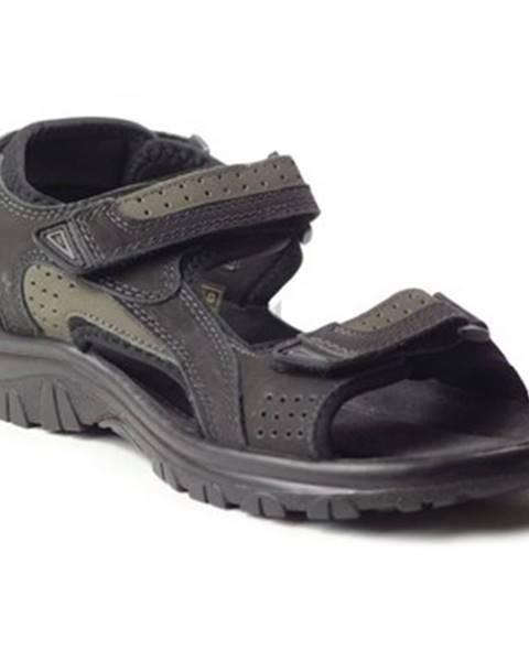 Čierne športové sandále Marco Tozzi