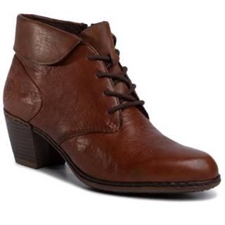 Šnurovacia obuv Rieker Y2131-22 Prírodná koža(useň) - Lícova