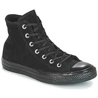 Členkové tenisky Converse  CHUCK TAYLOR ALL STAR MONO PLUSH SUEDE HI BLACK/BLACK/BLACK