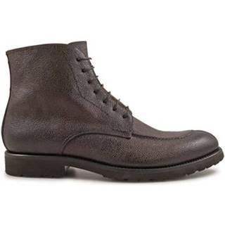 Polokozačky Leonardo Shoes  3376 SCOZIA AV CIOCCOLATO I