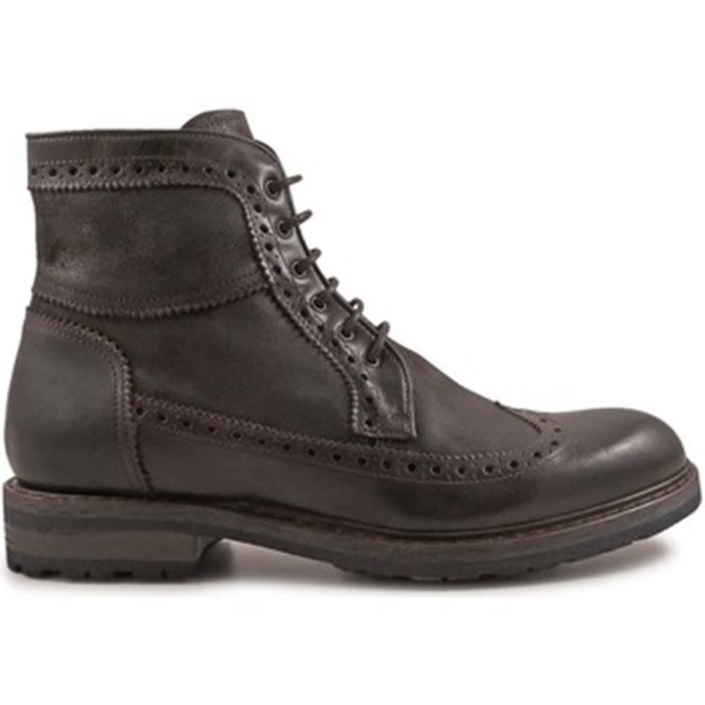 Leonardo Shoes Polokozačky Leonardo Shoes  4682 OXFORD DELAVE CIOCCOLATO I