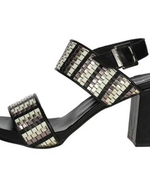 Čierne topánky Pierfrancesco Vincenti