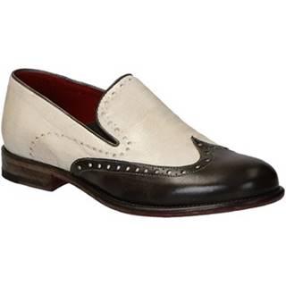 Mokasíny Leonardo Shoes  05126 CRUST BOT DELAVE TAUPE