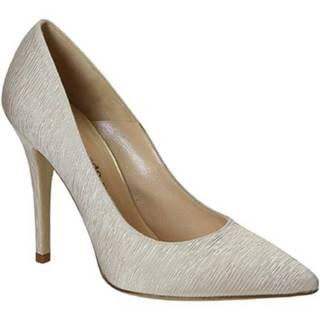 Lodičky Leonardo Shoes  17147 PLISSE BEIGE PLISE BEIGE T 2810 F DI
