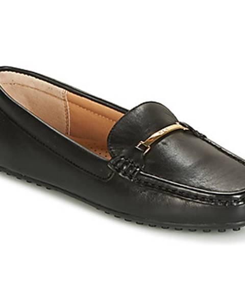 Čierne topánky Lauren Ralph Lauren