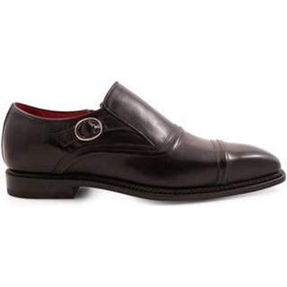 Mokasíny Leonardo Shoes  05208 13570 NERO