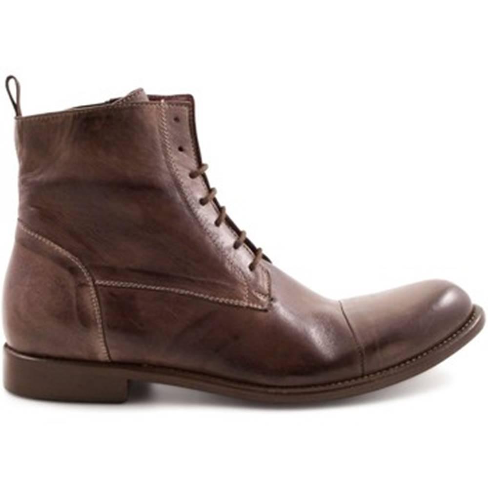 Leonardo Shoes Polokozačky Leonardo Shoes  2463/8 WENGE