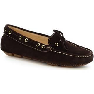 Balerínky/Babies Leonardo Shoes  7502 SOFTY TESTA DI MORO