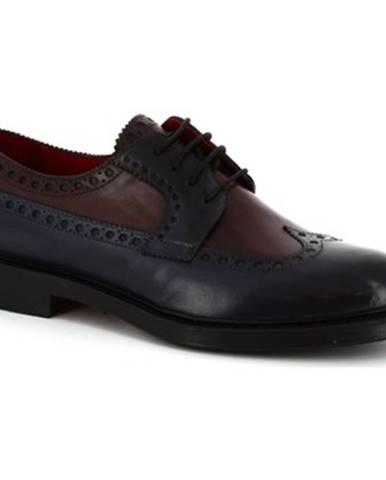 Derbie Leonardo Shoes  07271 MONTECARLO DELAV? BLU BORDEAUX