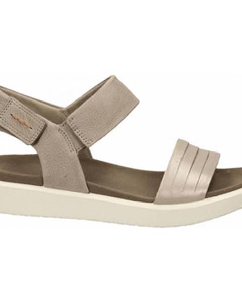 Strieborné topánky Ecco