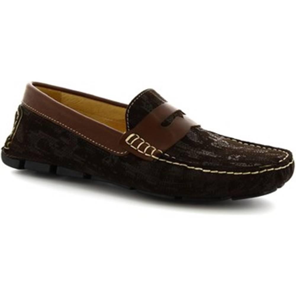 Leonardo Shoes Mokasíny Leonardo Shoes  504 NIAGARA CRUST T. MORO
