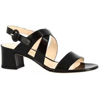 Sandále Leonardo Shoes  3371  VITELLO NERO