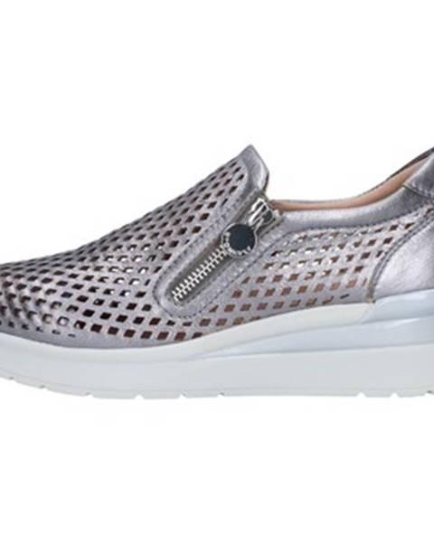 Strieborné topánky Stonefly