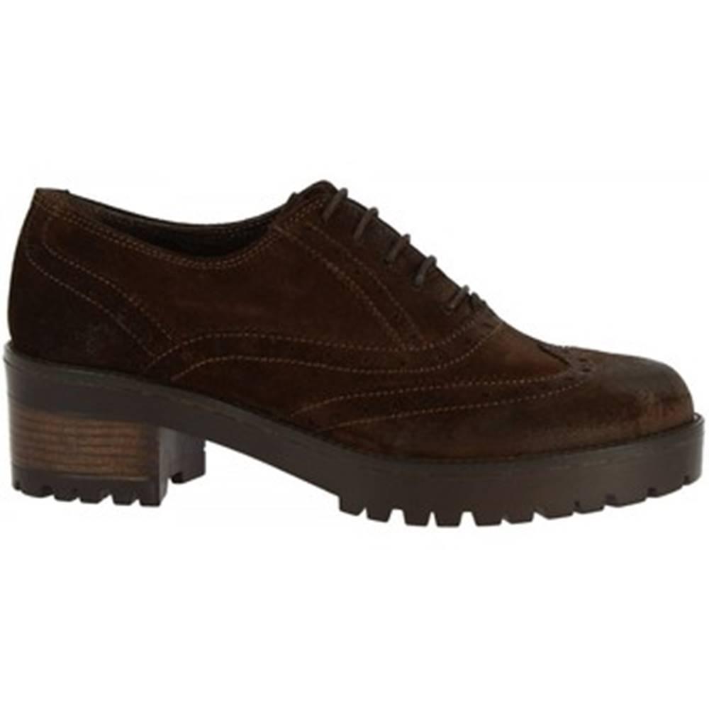 Leonardo Shoes Derbie Leonardo Shoes  024-16 CAMOSCIO T. MORO