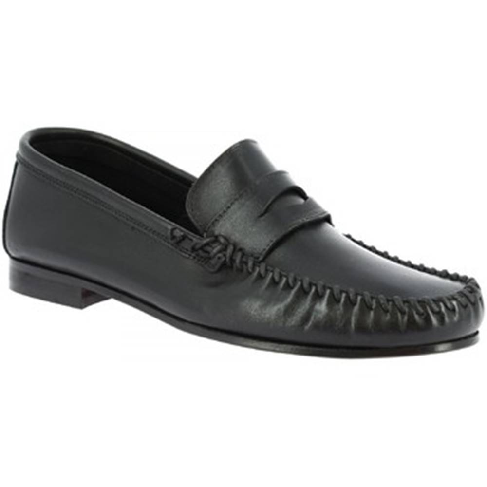 Leonardo Shoes Mokasíny Leonardo Shoes  1300 VITELLO NERO