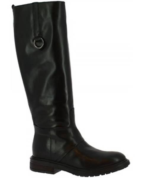 Čierne čižmy Leonardo Shoes