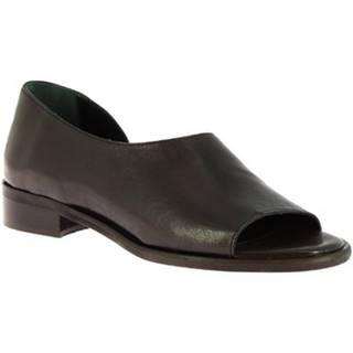 Sandále Leonardo Shoes  3 ROK NERO