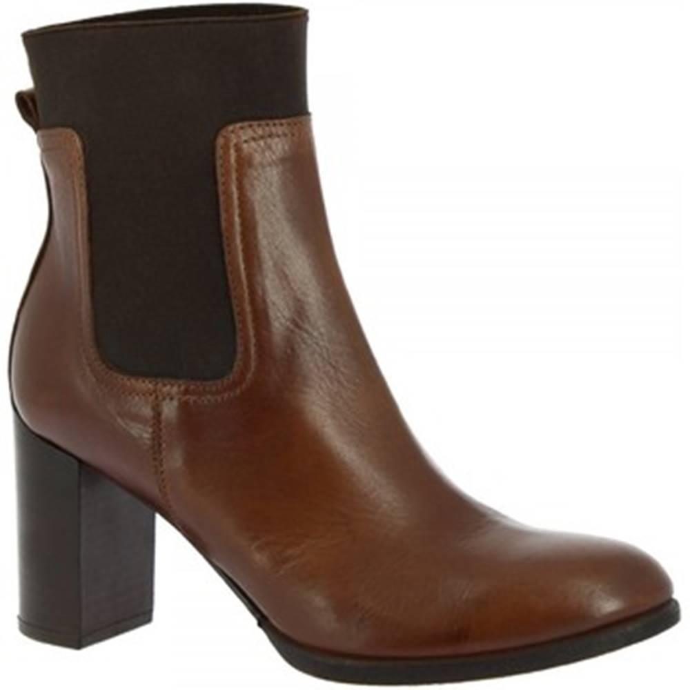 Leonardo Shoes Čižmičky Leonardo Shoes  R088 TOFFY TAN