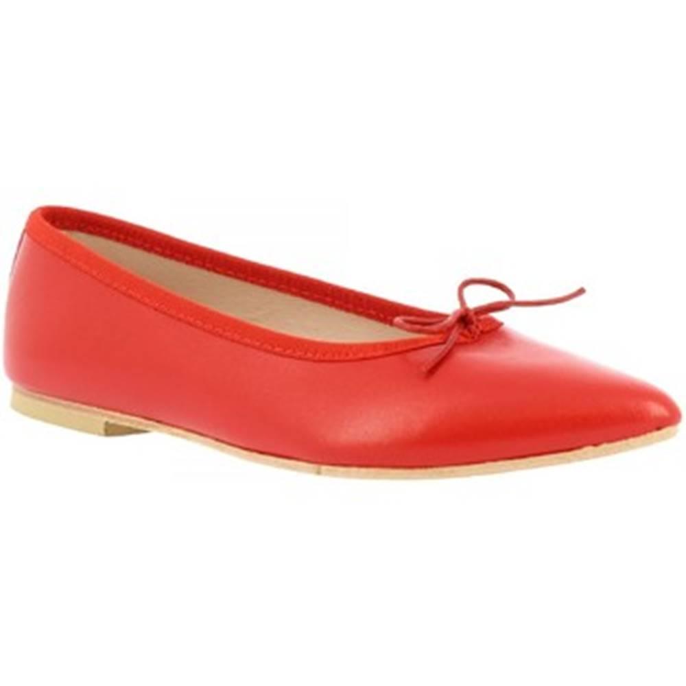 Leonardo Shoes Balerínky/Babies Leonardo Shoes  1178 NAPPA ROSSO