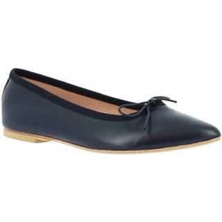 Balerínky/Babies Leonardo Shoes  1178 NAPPA BLU