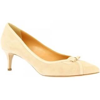 Lodičky Leonardo Shoes  E9550 CAMOSCIO CIPRIA