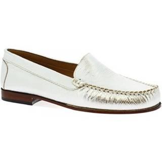 Mokasíny Leonardo Shoes  318L ARGENTO