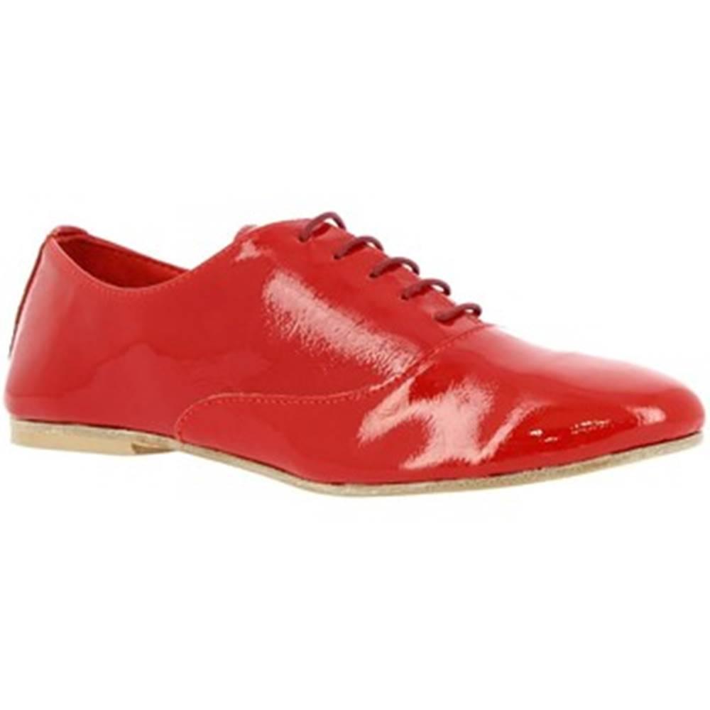 Leonardo Shoes Derbie Leonardo Shoes  936-80 NAPLAK ROSSO