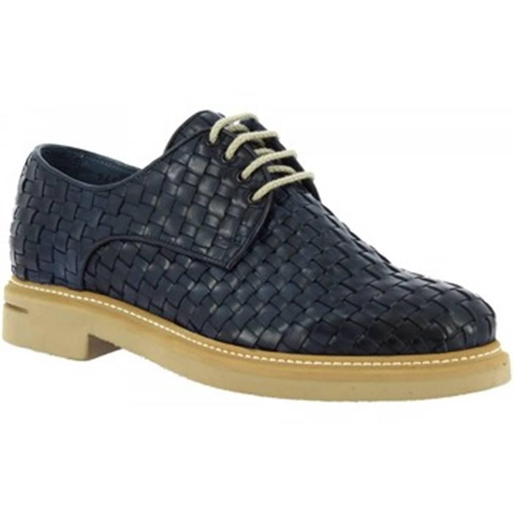 Leonardo Shoes Derbie Leonardo Shoes  9459E20 VITELLO AV BLU