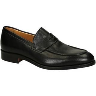 Mokasíny Leonardo Shoes  06651 FORMA 40 NAIROBI NERO