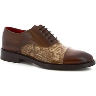 Richelieu Leonardo Shoes  9127/19 TOM VITELLO DELAVE BRANDY