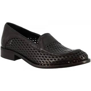 Mokasíny Leonardo Shoes  2001MARC NERO