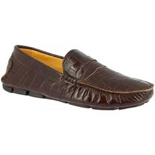 Mokasíny Leonardo Shoes  503 COCCO T MORO