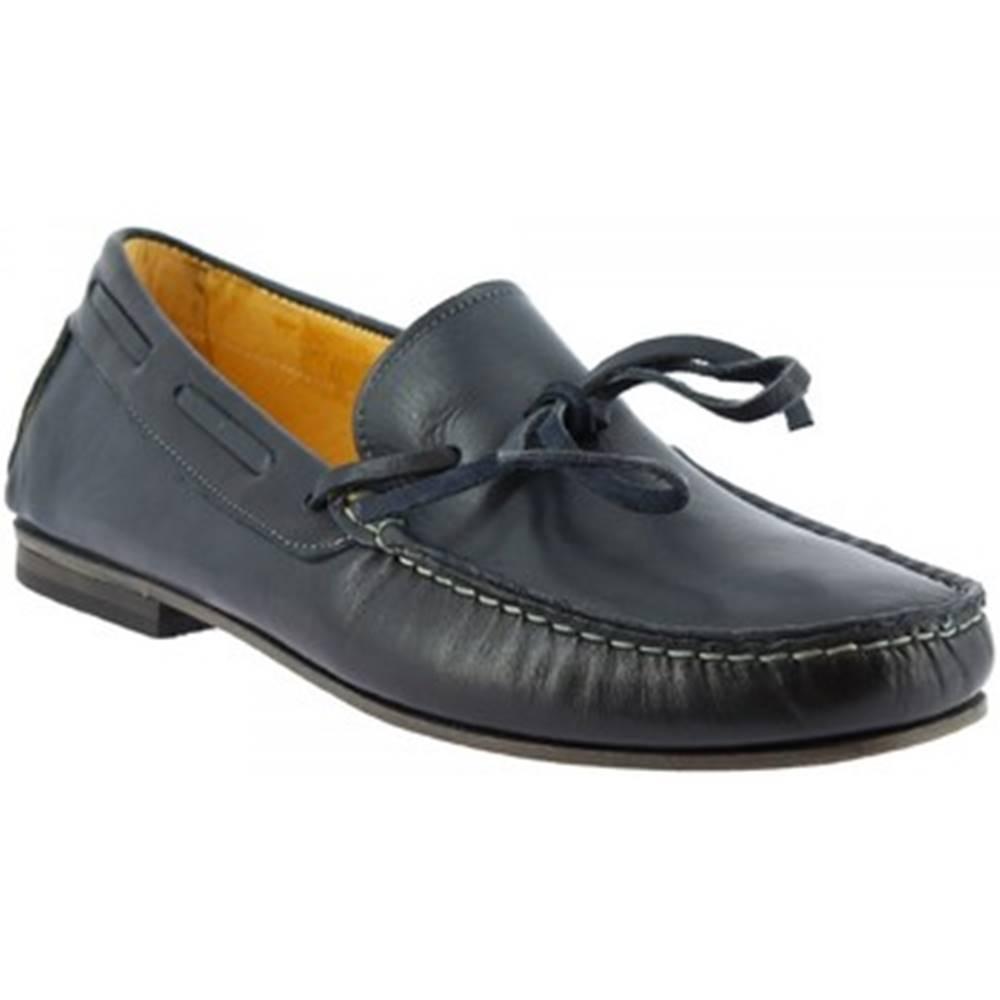Leonardo Shoes Mokasíny Leonardo Shoes  502 VITELLO BLU