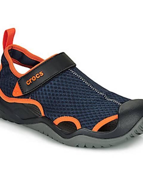 Modré športové sandále Crocs
