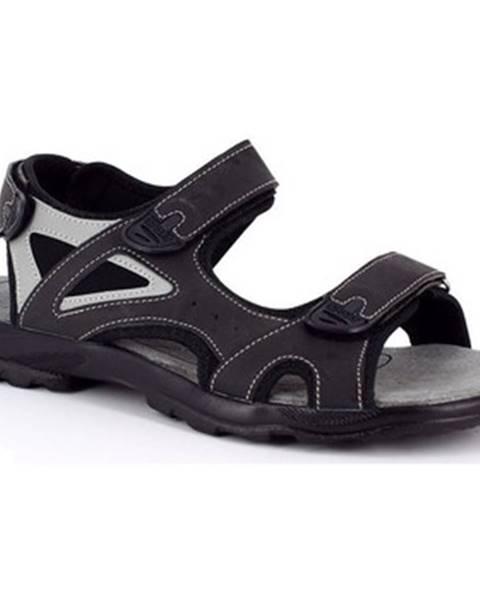 Čierne športové sandále Kimberfeel