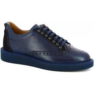 Derbie Leonardo Shoes  1119_1 VITELLO BLUE