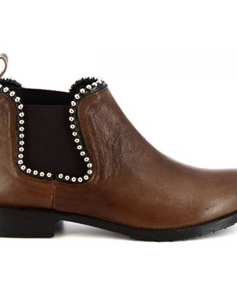 Viacfarebné polokozačky Leonardo Shoes