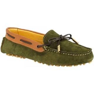 Námornícke mokasíny Leonardo Shoes  507 CAMOSCIO BOSCO