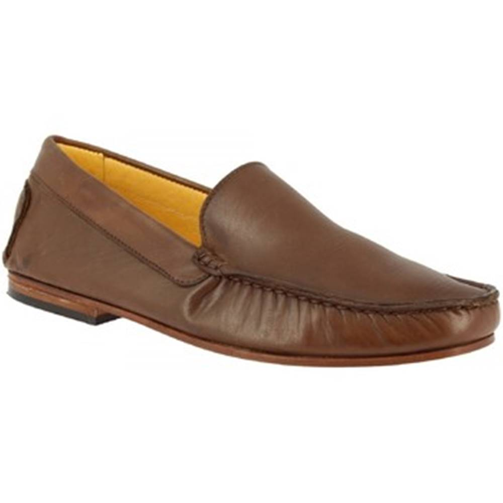 Leonardo Shoes Mokasíny Leonardo Shoes  500 VITELLO CASTAGNA