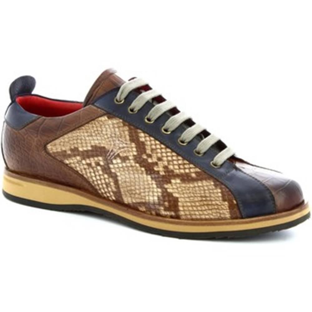 Leonardo Shoes Nízke tenisky Leonardo Shoes  9215/19 COCCO AV BRANDY