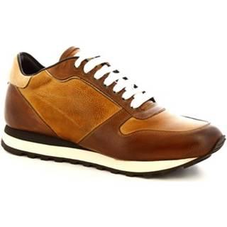 Nízke tenisky Leonardo Shoes  9237/19 TOM VITELLO DELAVE BRANDY