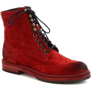 Polokozačky Leonardo Shoes  4730 ROSSO