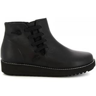 Čižmičky Leonardo Shoes  4527 INGRASSATO NERO