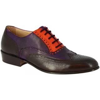 Derbie Leonardo Shoes  PINA 037 VIOLA/ARANCIO/T. MORO